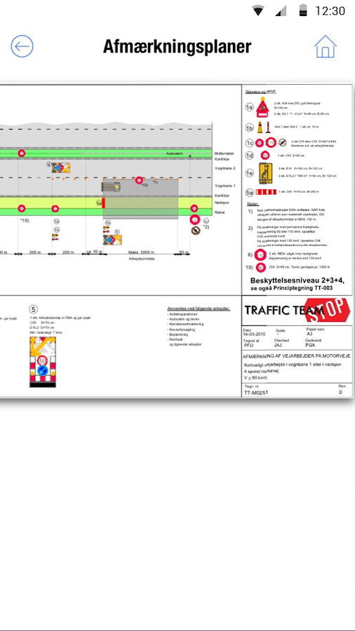 Traffic APP – screenshot