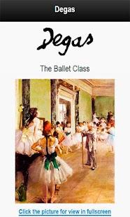 Famous paintings Degas art - náhled