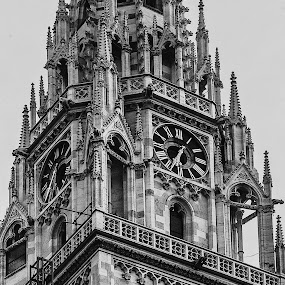 Sharp Details by Iva Marinić - Black & White Buildings & Architecture ( architectural detail, details, black and white, cathedral, architecture )