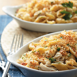 Crab-Alfredo Baked Shells Recipe