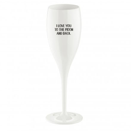 Champagneglas med print 6-pack 100ml, Love You To The Moon