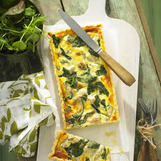 Artichoke, Gruyère and Spinach Quiche.