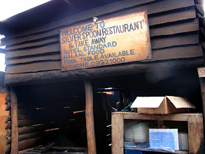 Photo: Lilongwe - market, local 'restaurant'