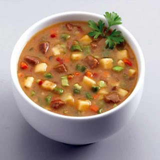 Veal and Fresh Vegetable Soup.