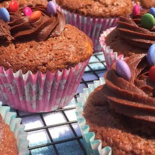 Chocolate Banana Caramel Cupcakes.