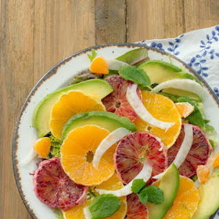 Fennel and Orange Salad with Avocado Vinaigrette