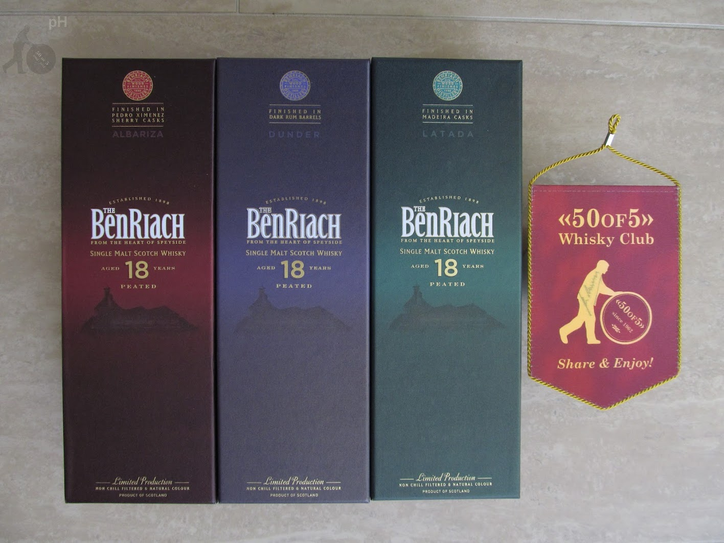 BenRiach 18yo Peated Trio