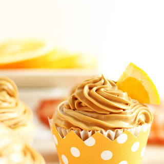 Orange Cupcakes with Dulce De Leche Buttercream