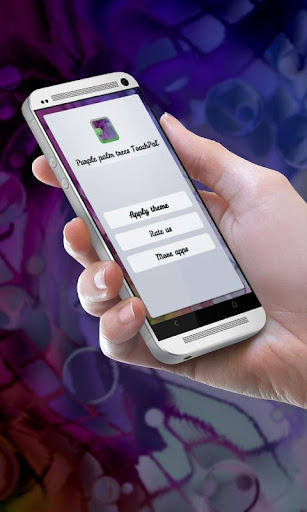 Purple palm trees TouchPal