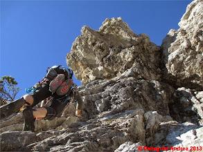 Photo: IMG_4192 Nicola sul primo tiro della Via del Topo