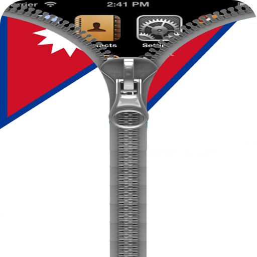 Nepal Flag Zipper Screenlock