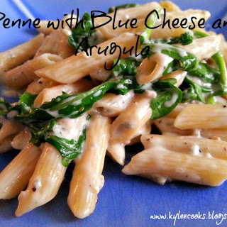Penne with Blue Cheese and Arugula Recipe