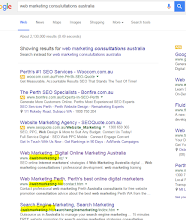 "Photo: I just discovered we're on page one of Google's SERP for ""web marketing consultation australia"""