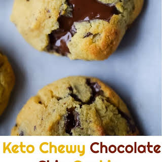Keto Chewy Chocolate Chip Cookies.