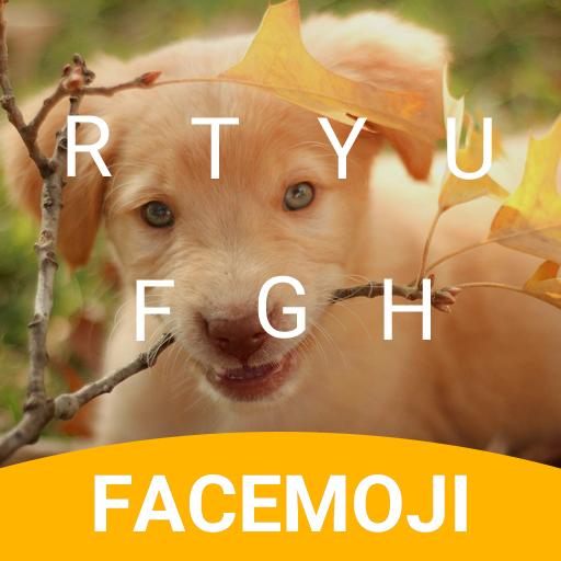 Labrador Puppy Emoji Keyboard Theme for Messenger