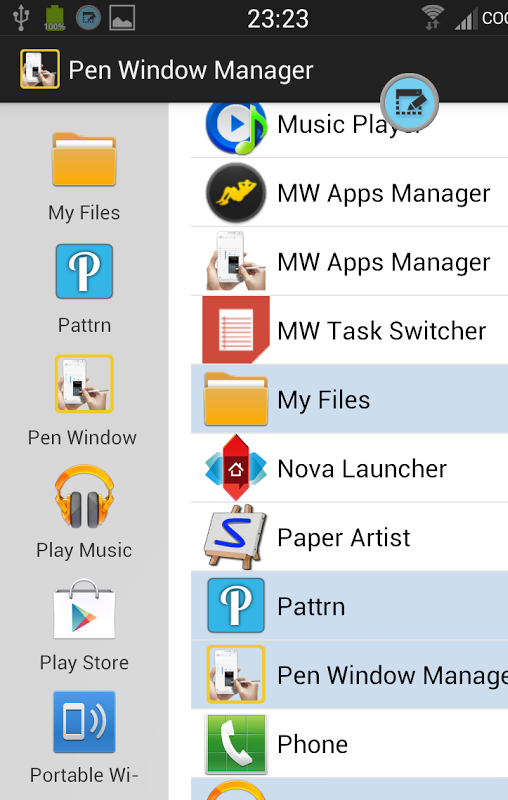 PEN Window Launcher- screenshot