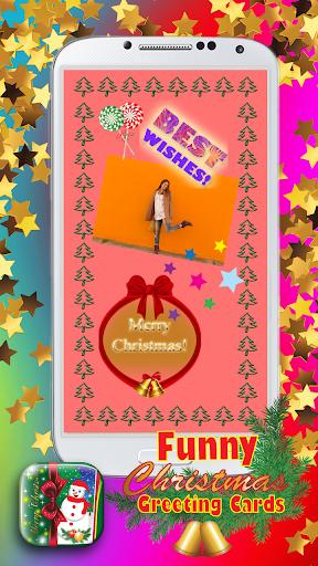 おかしいクリスマスのグリーティングカード