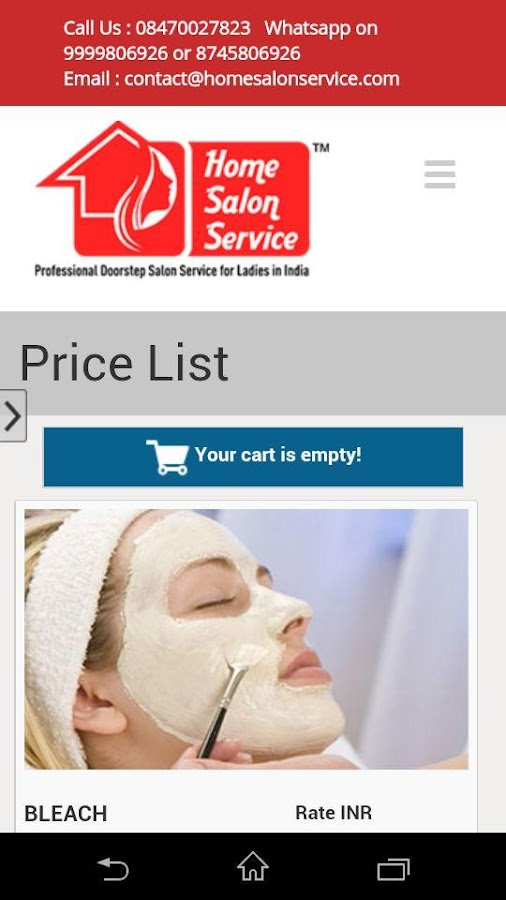 Home Salon Service- screenshot