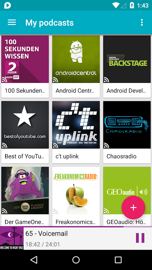 uPod Podcast Player - screenshot