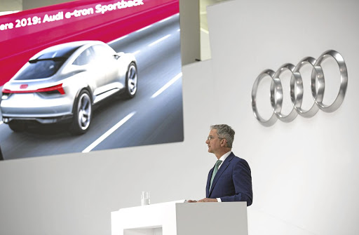 Rupert Stadler, chairman of Audi, announced the new electric vehicle plans. Picture: AUDI