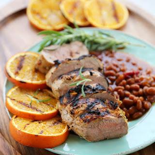 Citrus Grilled Pork Tenderloin with Baked Beans