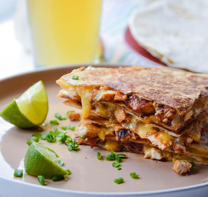 Lime Chicken Quesadillas with Bacon Recipe