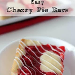Easy Cherry Pie Bars.