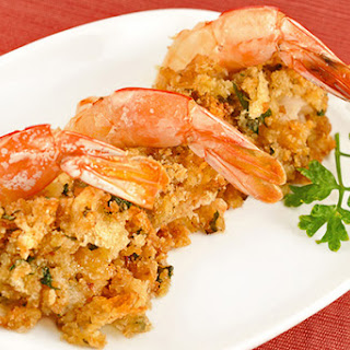 Stuffed Shrimp Oreganata-Style.