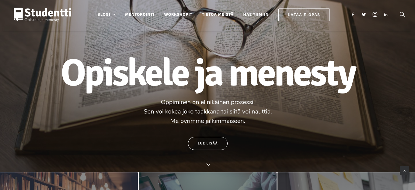 studentti nettisivustot opiskelutaitojen kehittämiseen
