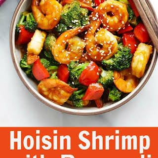 Hoisin Shrimp with Broccoli.