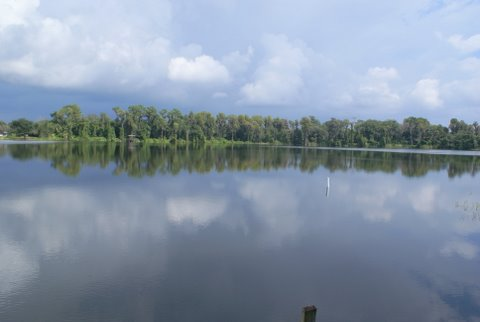 Photo: This is our very beautiful lake on a sunny morning.