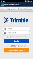Screenshot of My Trimble Protected