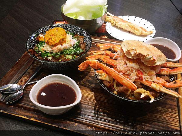 秋季限定松葉蟹丼飯搭配超滑口蟹膏,地表最強燒肉丼,海陸通通有~開丼南紡夢時代