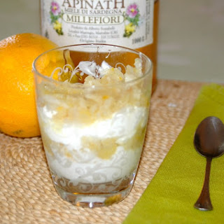 Honey and Orange Infused Pear Yogurt Parfait