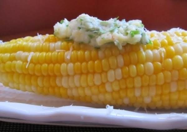 Hot Corn With Chimichurri Butter