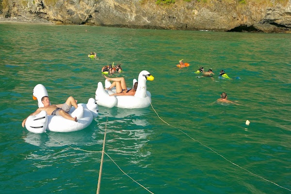 Snorkel and duck lounge fun