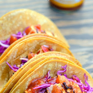 Sweet Ginger Chile Grilled Tofu Tacos with Pineapple Salsa