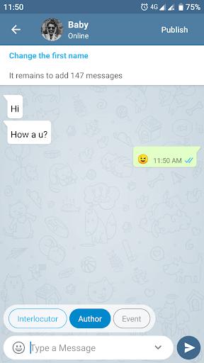 Fake Chat Messenger u2014 TeleFake 1.0.3 screenshots 4