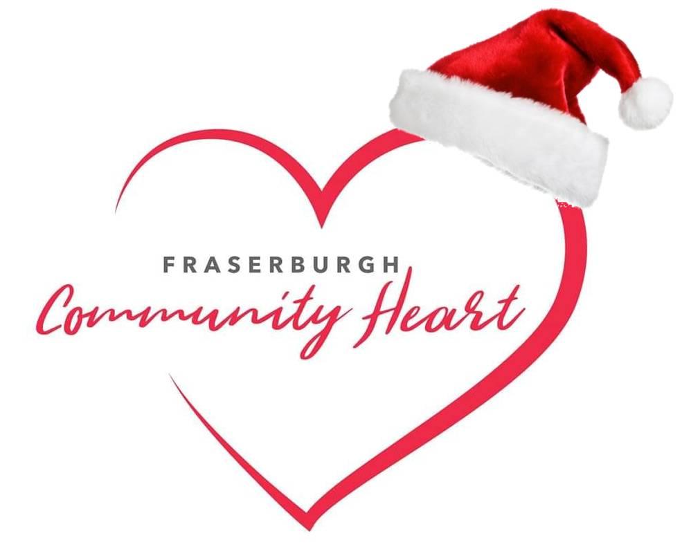 Fraserburgh Community Heart at Christmas