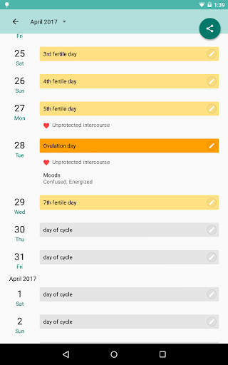 Period and Ovulation Tracker screenshot 12