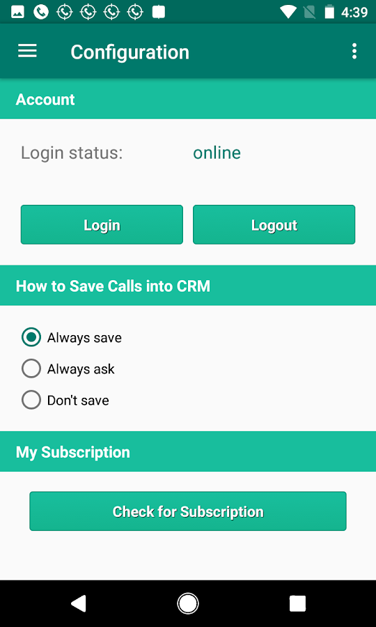 Call Tracker for Act! Essentials CRM- screenshot