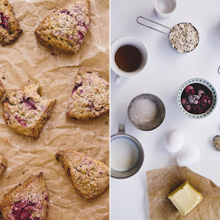 Raspberry Oat Meal Scones