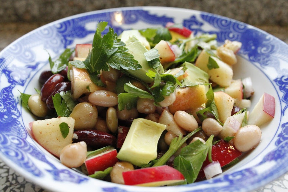 健康, 豆サラダ, アボカドのサラダ