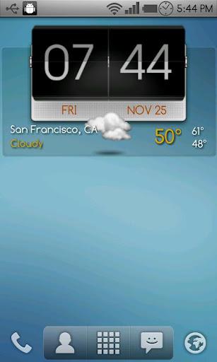 3D Flip Clock Theme Pack 03 screenshot 3