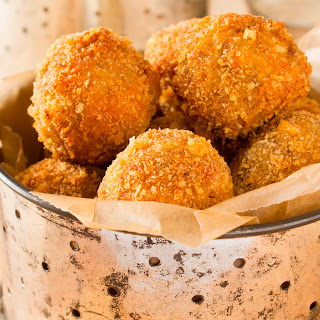 Boudin Balls with Creole Mustard Dipping Sauce.