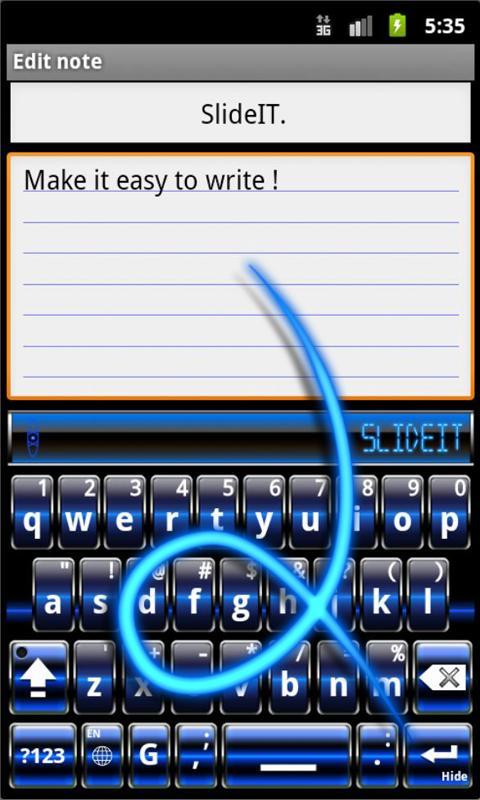 Скриншот SlideIT Blue Digital Skin