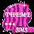 Pink Zebra GO SMS Theme logo