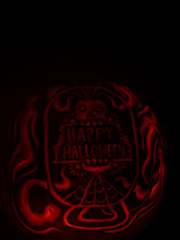 Photo: Glow shot of the pumpkin I carved earlier.