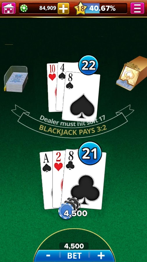 Screenshots of BLACKJACK! for iPhone