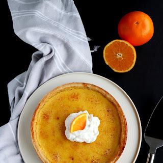 Orange Crème Brûlée Tart.